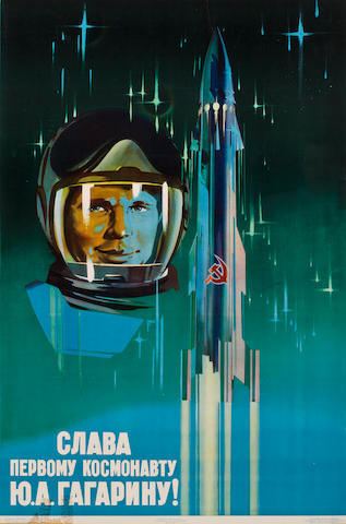 GLORY TO THE COSMONAUT GAGARIN.