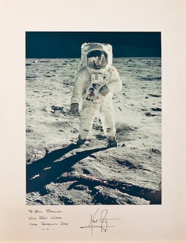 ALDRIN, INSCRIBED BY ARMSTRONG.