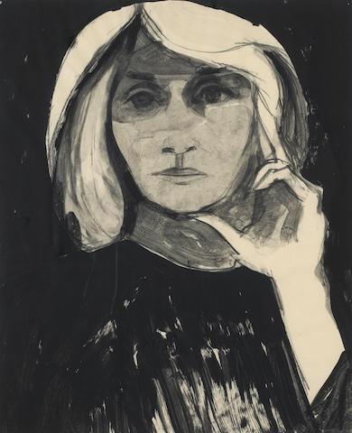 (n/a) William Theophilus Brown (American, born 1919) Portrait of Eva Marie Saint, 1965 16 3/4 x 14in