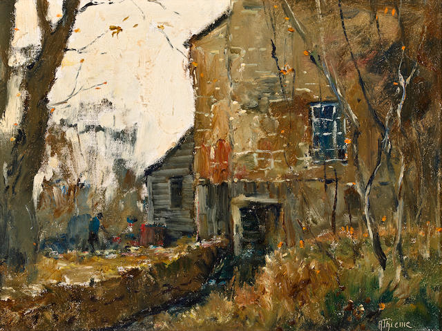 Anthony Thieme (American, 1888-1954) Old Mill, Storrs 12 x 16in