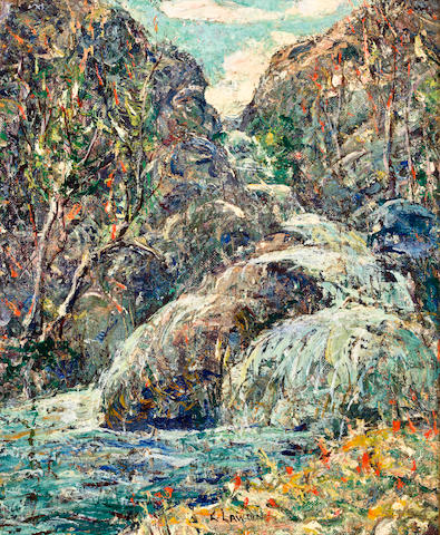 Ernest Lawson (American, 1873-1939) Rocks, Colorado 12 x 10in