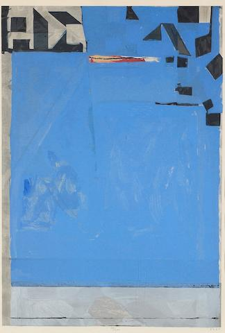 Richard Diebenkorn (American, 1922-1993); Blue with Red;