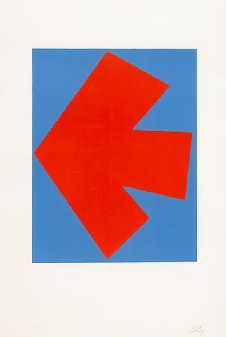 Ellsworth Kelly (American, born 1923); Orange over Blue;