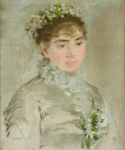(n/a) Eva Gonzalès (French, 1849-1883) Une mariée, 1879 18 1/8 x 14 15/16in (46 x 38cm)