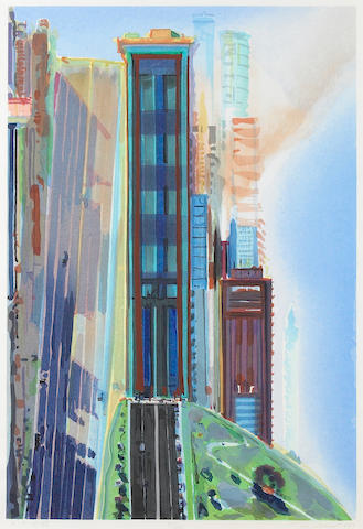 Wayne Thiebaud (American, born 1920); Hill Street;