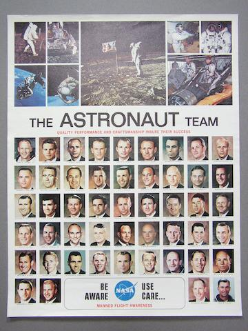 POSTER—THE ASTRONAUT TEAM.