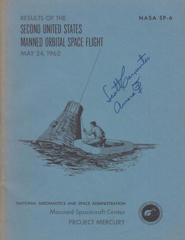 CARPENTER-SIGNED ORBITAL FLIGHT REPORT.
