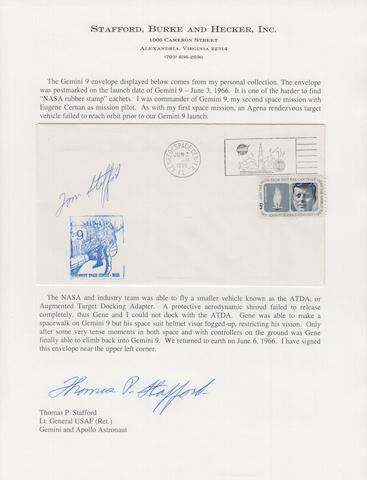 STAFFORD'S GEMINI 9 LAUNCH COVER—SIGNED.