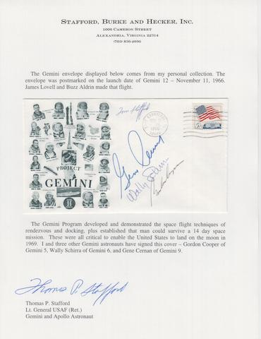 STAFFORD'S GEMINI PROGRAM COVER—SIGNED.