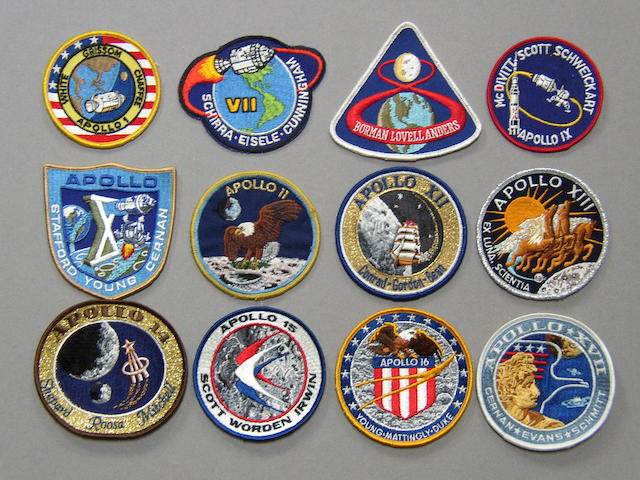 APOLLO 1 THROUGH 17 LION BROTHERS CREW EMBLEMS.