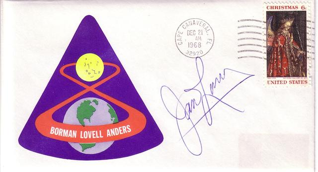 APOLLO 8 POSTAL COVER—SIGNED.