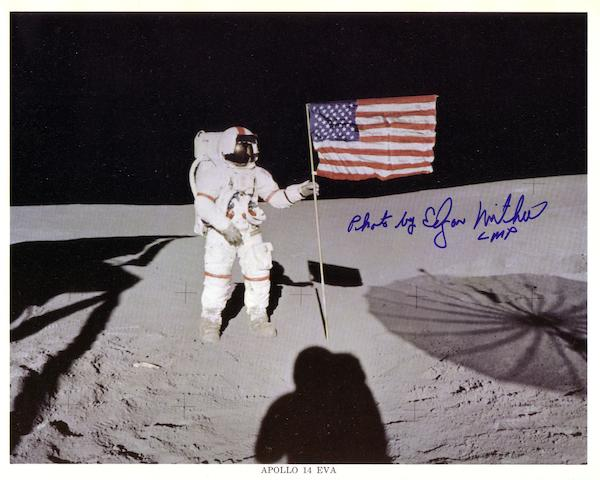SHEPARD WITH STARS AND STRIPES—SIGNED.