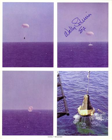 SIGMA 7 SPLASHDOWN AND RECOVERY.