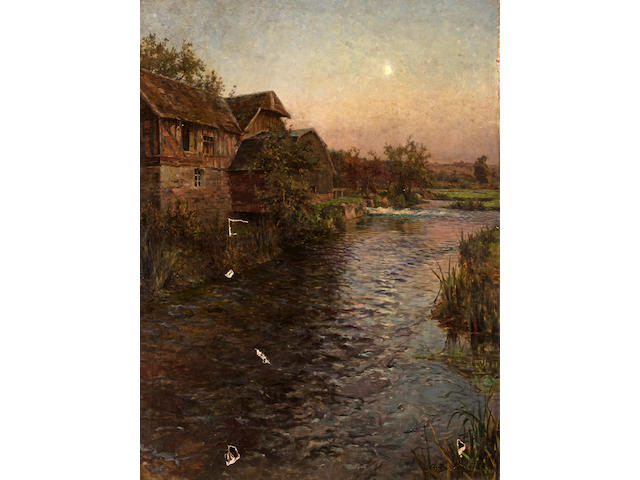 Louis Aston Knight (American, 1873-1948) Mill in Moonlight 79 1/4 x 59 3/4in