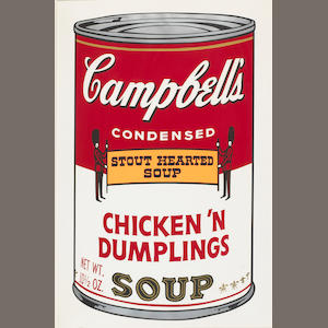 Andy Warhol (American, 1928-1987); Chicken 'n Dumplings, from Campbell's Soup II;