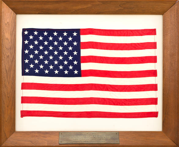 WEBB'S LARGE US FLAG FLOWN ON GEMINI 5.