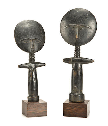 Two Ashanti Fertility Dolls, Ghana