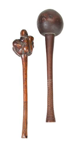 Two Fiji Islands Throwing Clubs, Republic of the Fiji Islands