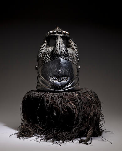 Mende Initiation Helmet Mask, Sierra Leone