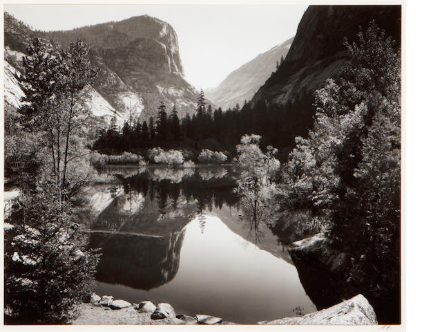 Ansel Adams (American, 1902-1984); Mirror Lake, Yosemite National Park;