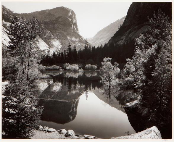 Ansel Adams (American, 1902-1984); Mirror Lake, Yosemite National Park;