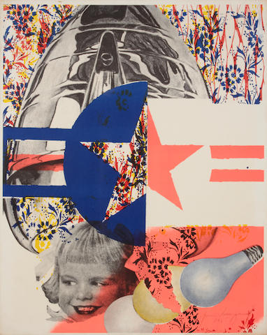 James Rosenquist (American, born 1933); F-111 Exhibition Poster;