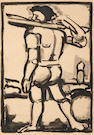 Georges Rouault (French, 1871-1958); Man carrying wood;