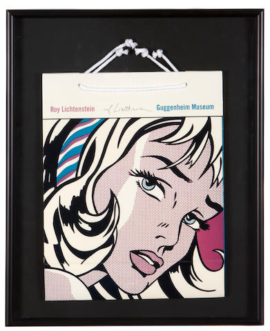 Roy Lichtenstein (American, 1923-1997); Guggenheim Shopping Bag (Girl with Hair Ribbon);