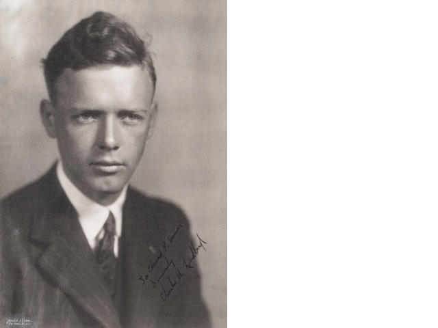 LINDBERGH SIGNED PHOTOGRAPH.