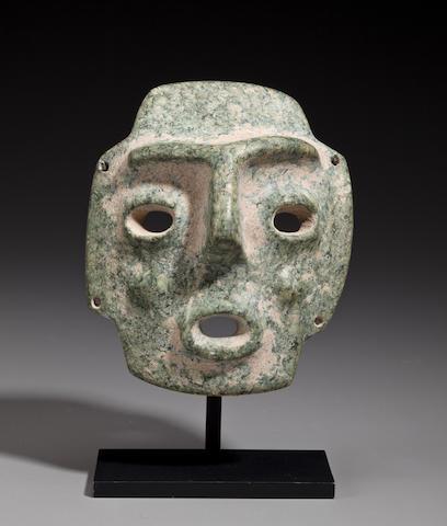 Mezcala Stone Mask,  Late Preclassic, ca. 300 - 100 B.C.