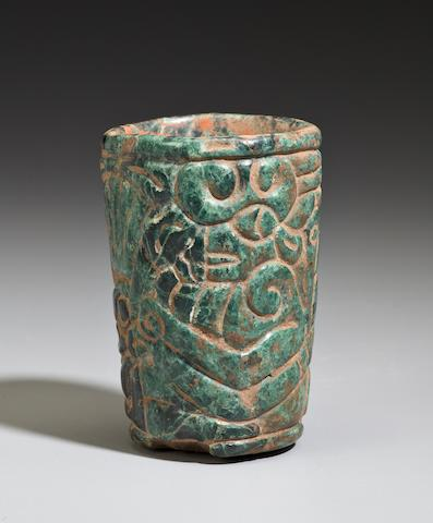 Maya Carved Vase, <br>Late Classic, ca. A.D. 550 - 950