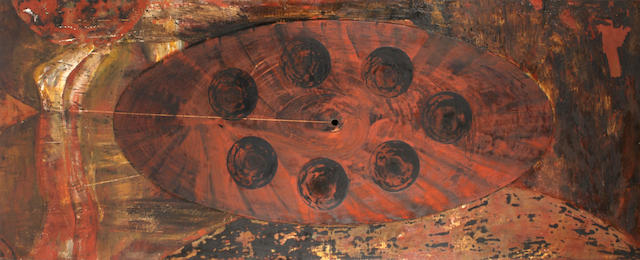 (n/a) Bruno Ceccobelli (Italian, born 1952) Sette in punto, 1987 39 x 100in (99 x 254cm) unframed