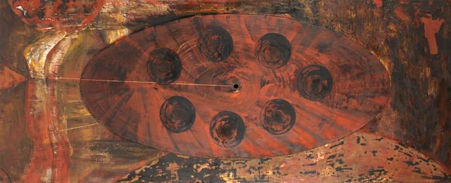 Bruno Ceccobelli (Italian, 1952) Sette in punto, 1987 39 x 100in (99 x 254cm) unframed