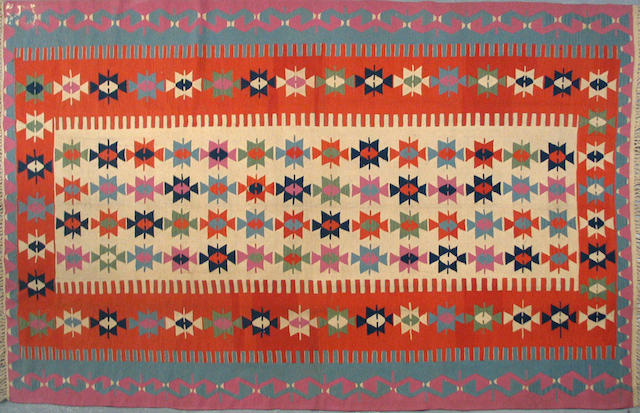 A Turkish kilim size approximately 6ft. 5in. x 10ft. 5in.