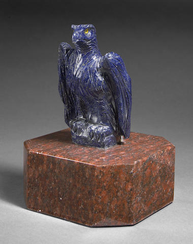 Sapphire Carving of an eagle