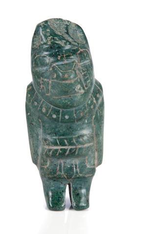 Olmec Standing Stone Figure,<br>Middle Preclassic, ca. 900 - 600 B.C.