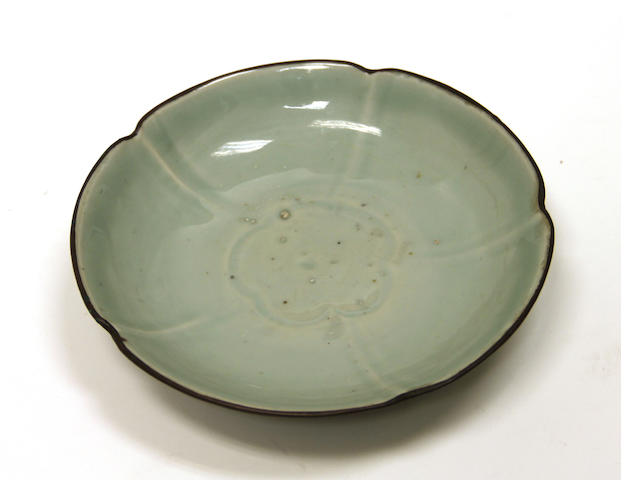 A Song style celadon glazed porcelain dish