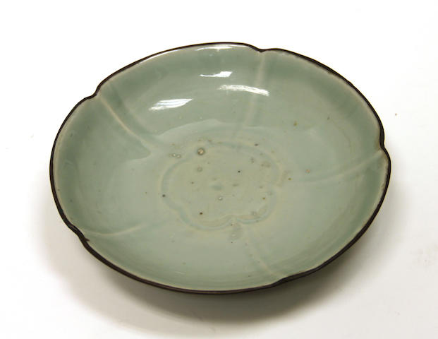 A Song style celadon glazed porcelain dish