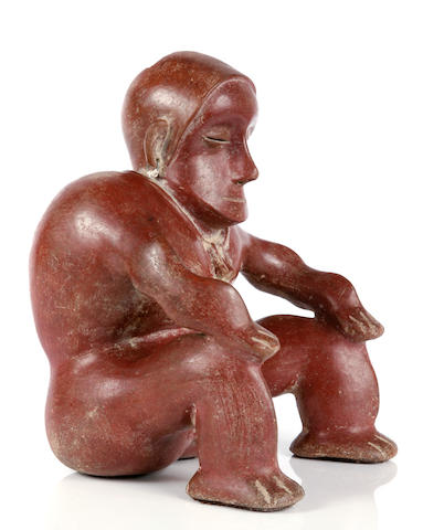 Colima Seated Hunchback Figure,<br>Protoclassic, ca. 100 B.C. - A.D. 250
