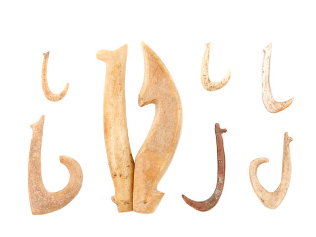 Group of Seven Fishhooks, Hawaiian Islands