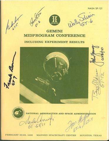 GEMINI RESULTS. Gemini Midprogram Conference, including Experiment Results. NASA SP-121. Washington: 1966.
