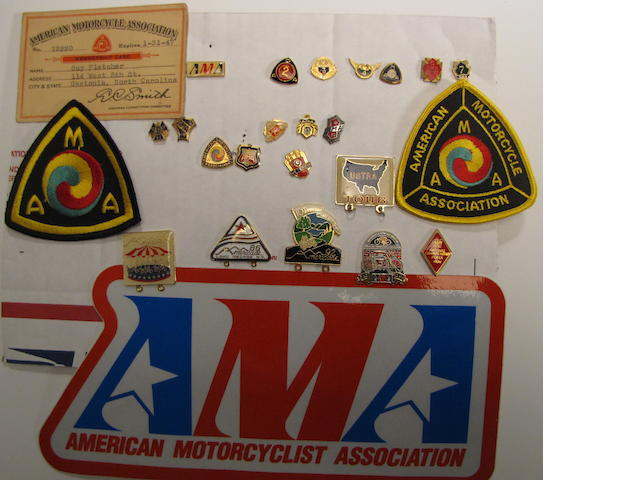 A collection of AMA ephemera,