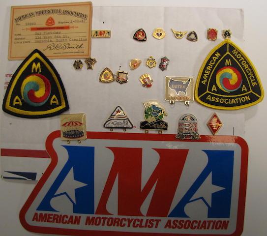 A collection of AMA ephemera,