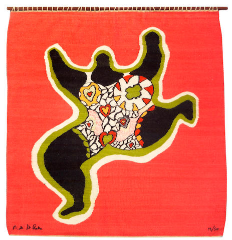 Niki de Saint Phalle (French, 1930-2002) Nana 76 x 70 1/2in