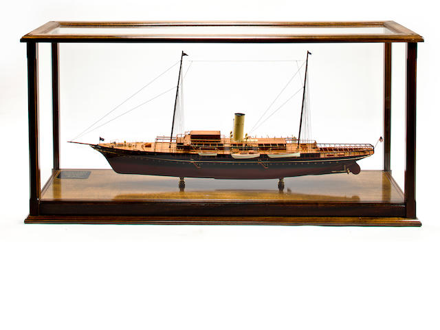 "A ship model ""Corsair IV Steam Yacht"""