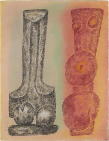 William Brice (American, 1921-2008) Untitled, 1983 24 1/2 x 19in