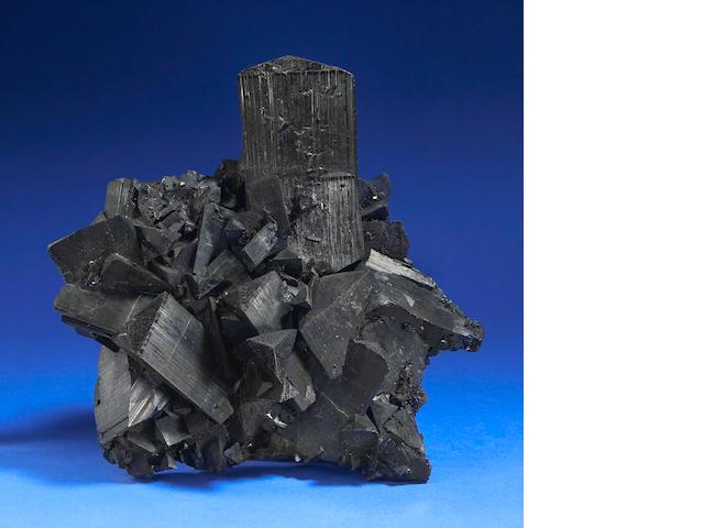 Tourmaline var. Schorl Cluster (Black Tourmaline)