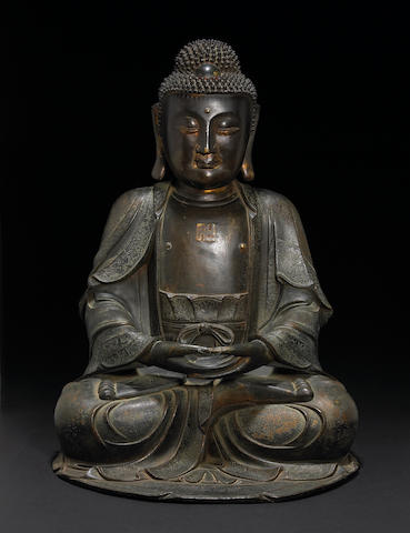 A bronze seated Buddha Ming Dynasty