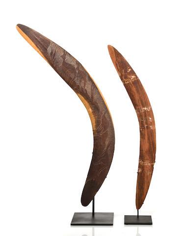 Two Aboriginal Boomerangs, Australia