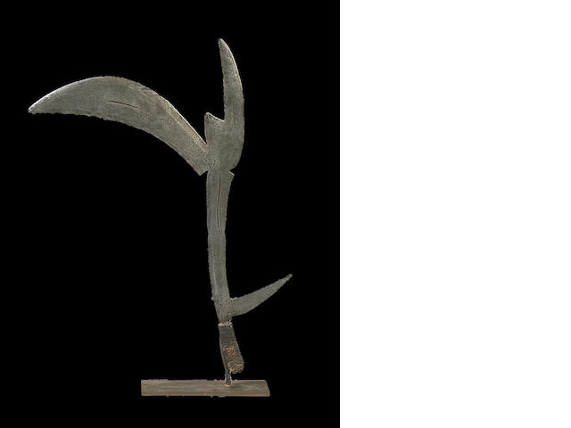Banda Prestige Sceptre/Throwing Knife, Cameroon